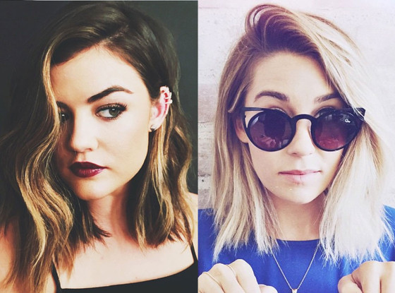 Spring's Most Requested Haircuts, Kristin Ess, Allie Marie Evans, Nora Wyman, Lucy Hale, Lauren Conrad