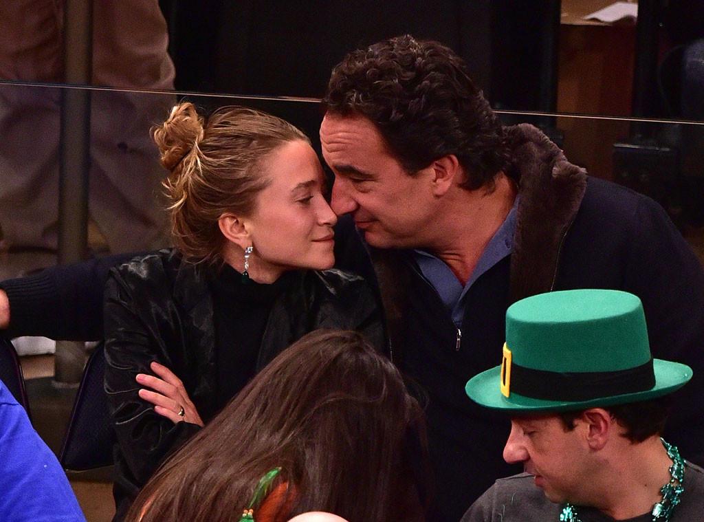 Mary-Kate Olsen, Oliver Sarkozy, San Antonio Spurs Game