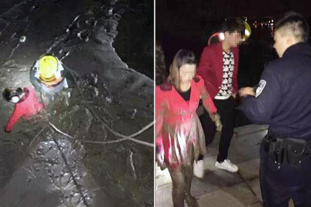 Ex-namorada e atual se jogam em rio para saber quem será salva pelo rapaz