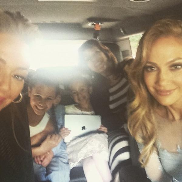 Leah Remini, Jennifer Lopez, Instagram