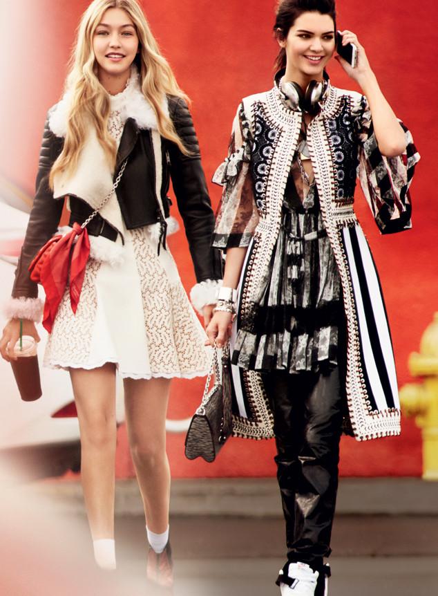 Gigi Hadid, Kendall Jenner, Vogue