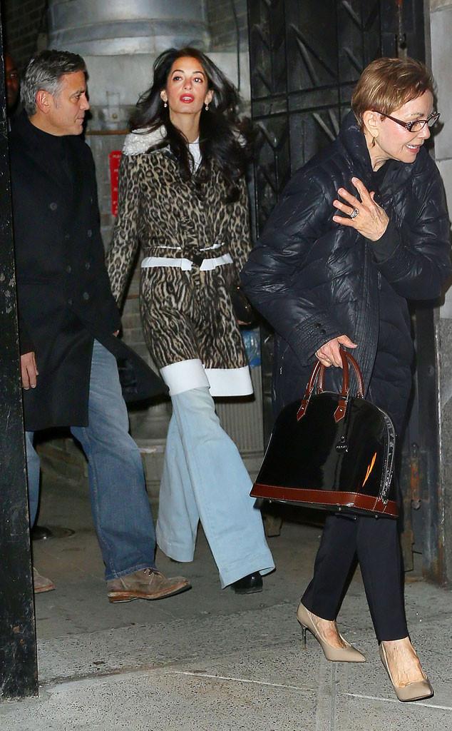 George Clooney, Amal Clooney, Nina Bruce