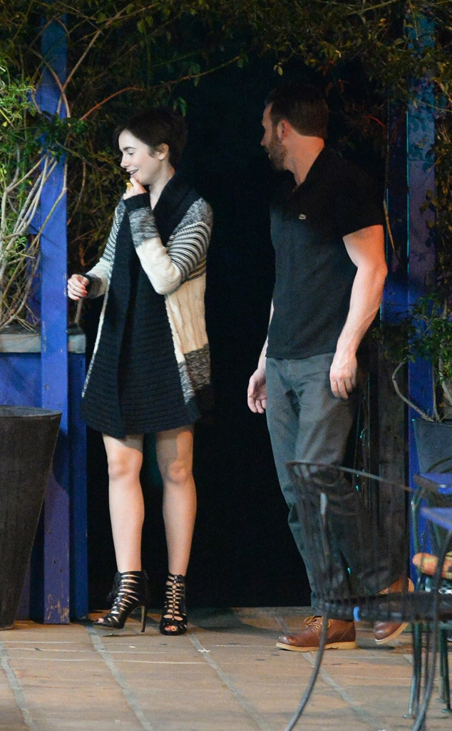Lily Collins, Chris Evans
