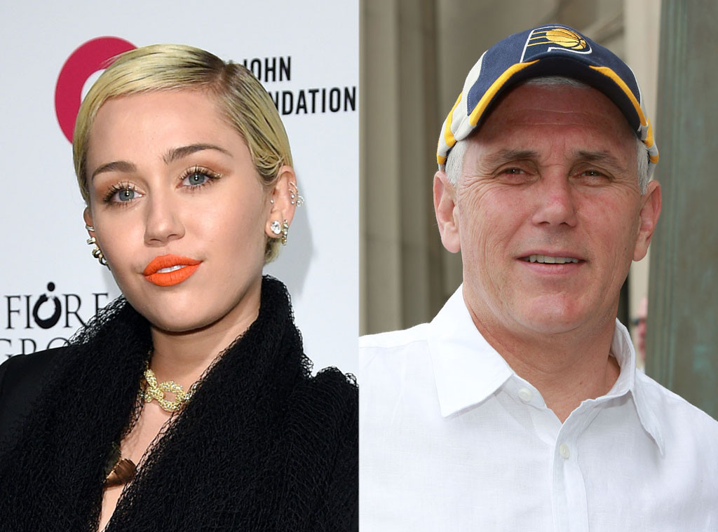 Miley Cyrus, Governor Mike Pence