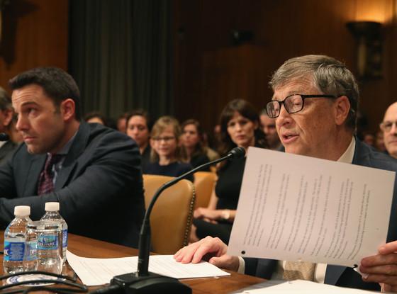 Ben Affleck, Bill Gates, Violet Affleck, Jennifer Garner
