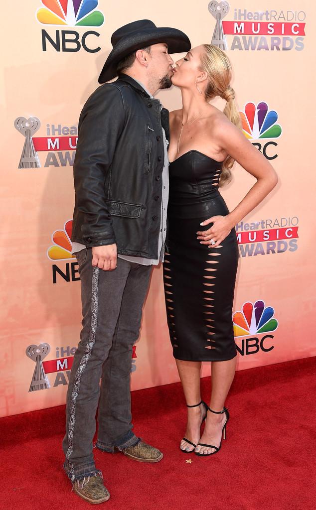 Jason Aldean, Brittany Kerr, iHeartRadio Music Awards