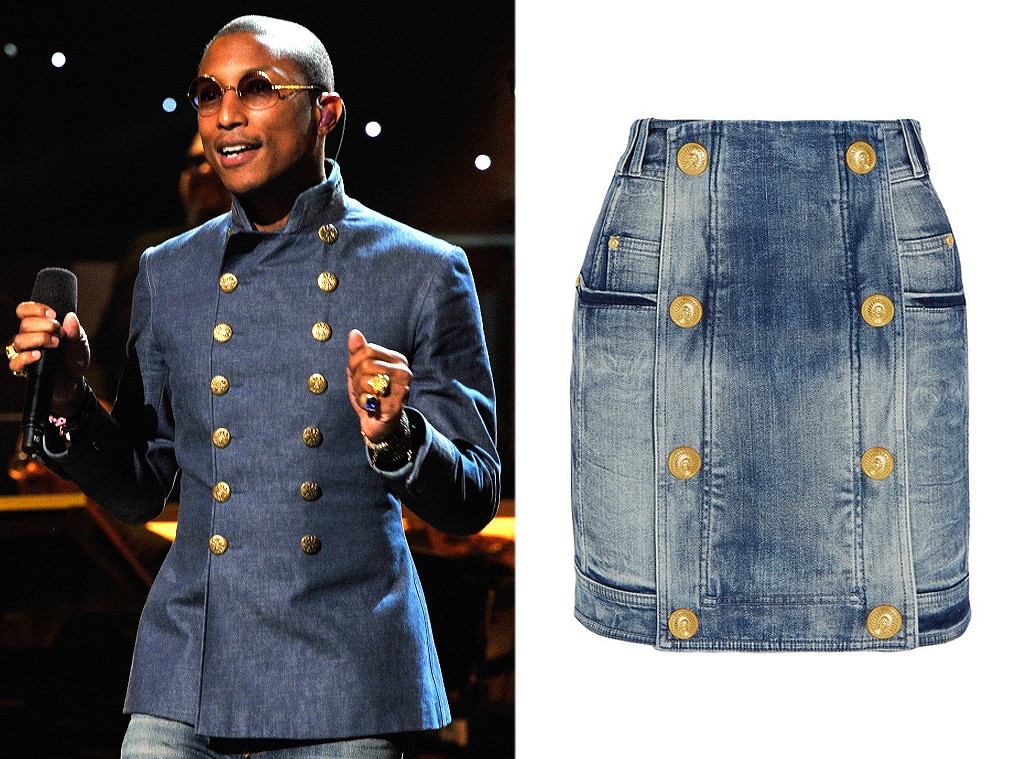 Pharrell Williams, Double Breasted Denim