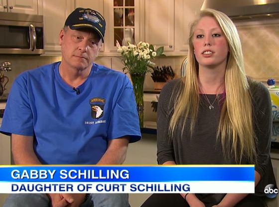 Curt Schilling, Gabby Schilling, Good Morning America