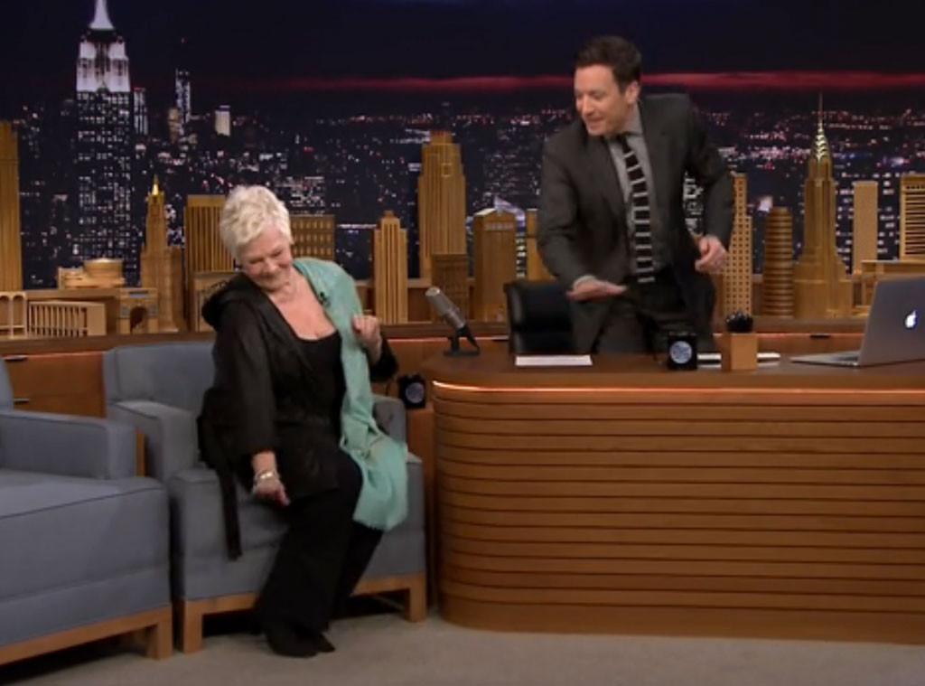 Judi Dench, Jimmy Fallon, Tonight Show