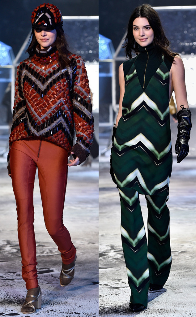 Kendall Jenner and Gigi Hadid Kick Off Paris Fashion Week Fall 2015 in H&M Studio Show—See the Pics!