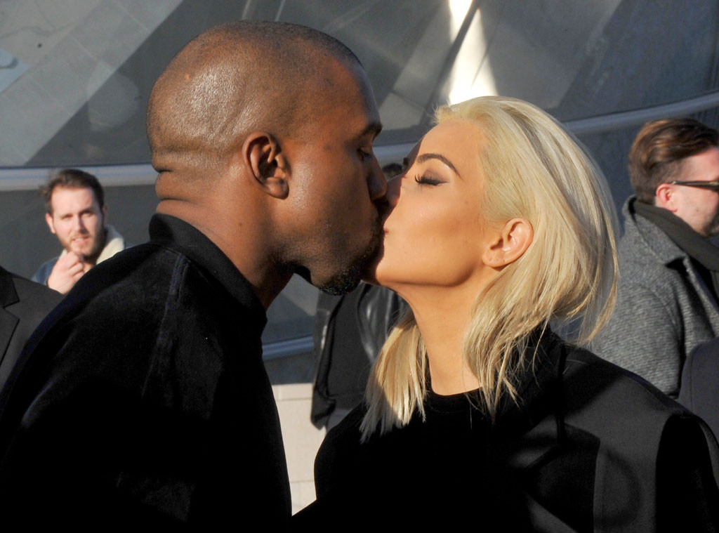Kanye West, Kim Kardashian, PDA