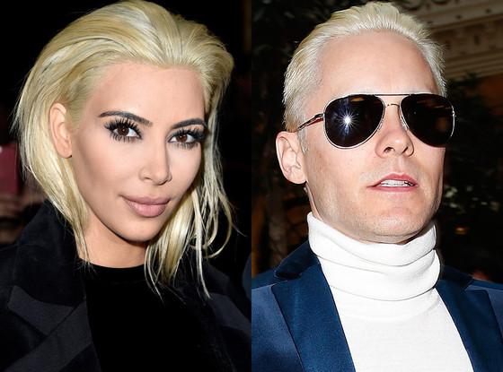 Kim Kardashian, Jared Leto, Hair