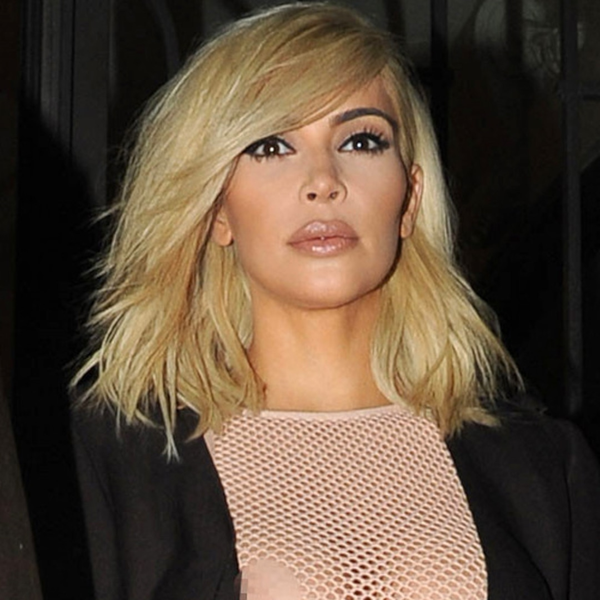 Braless Kim Kardashian Flashes Nipples Visible In Sheer