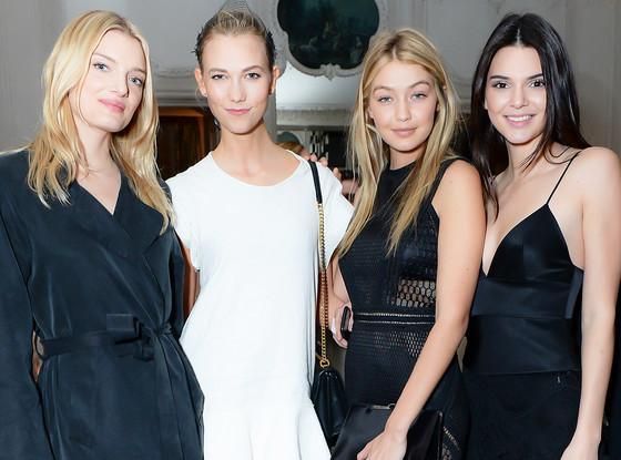 Gigi Hadid, Kendall Jenner, Karlie Kloss, Lily Donaldson, Paris Fashion Week