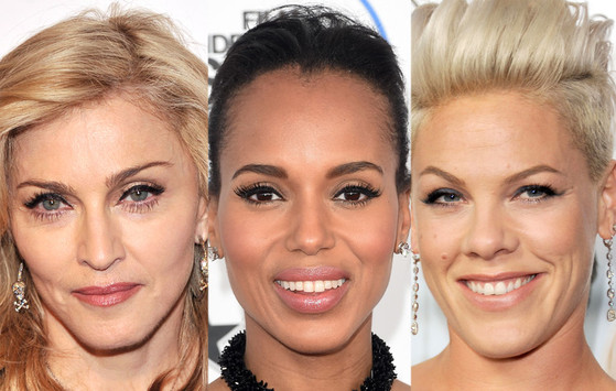 Madonna, Pink, Kerry Washington