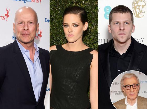 Kristen Stewart, Bruce Willis, Jesse Eisenberg, Woody Allen
