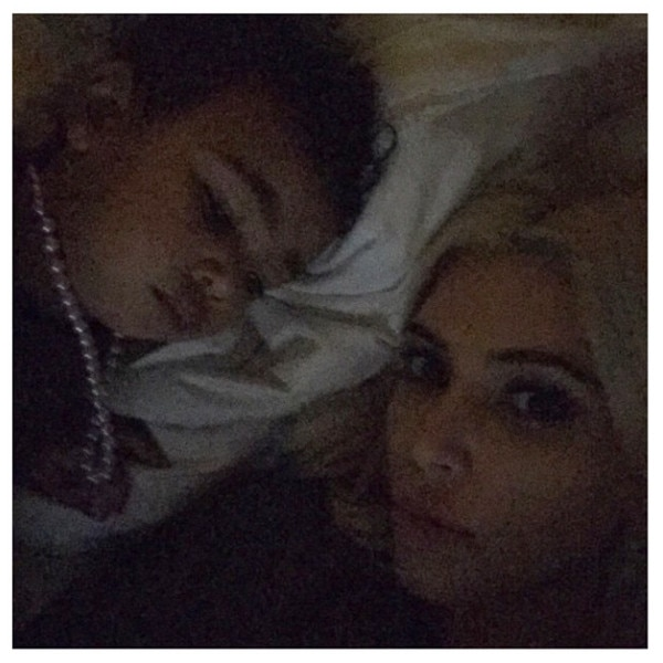 North West Pictures Instagram Bed Time from Kim Kard...