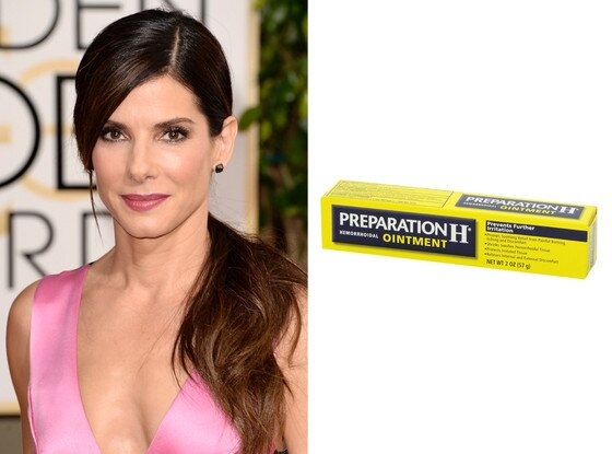 Sandra Bullock, Preparation H, Crazy Hollywood Beauty Tricks