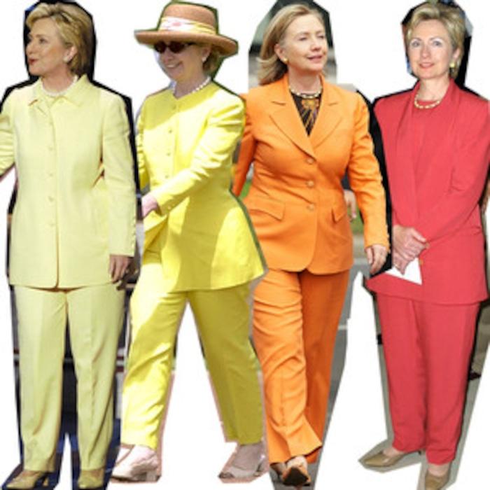let s take a look back at self declared pantsuit aficionado hillary