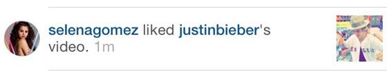 Selan Gomez, Instagram, Justin Bieber