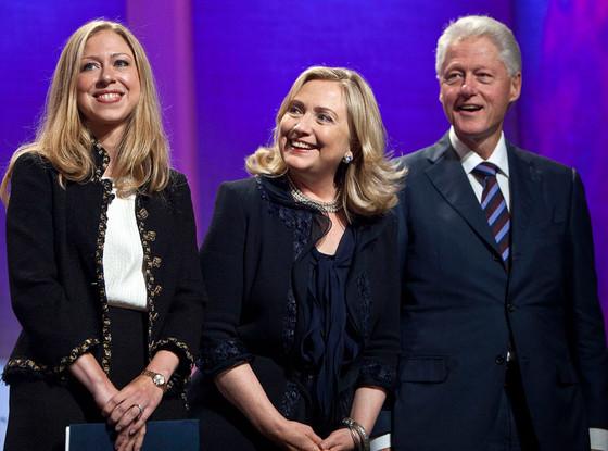 Bill Clinton, Hillary Clinton, Chelsea Clinton