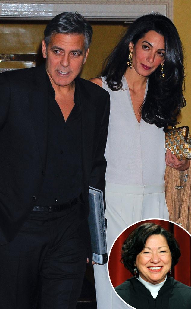 George Clooney, Amal Clooney, Sonia Sotomayor