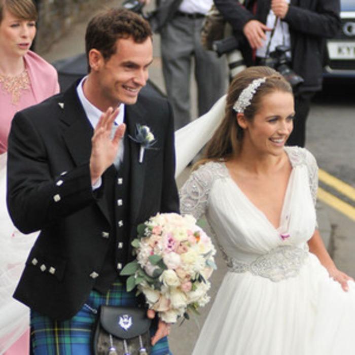 61520fb1121b Andy Murray Is Married! Tennis Star Weds Kim Sears, Who Looks Like a  Princess Bride—See a Wedding Photo! | E! News