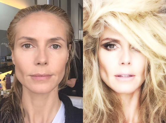 Heidi Klum Shares Stunning Before After Makeup Picssee The Crazy