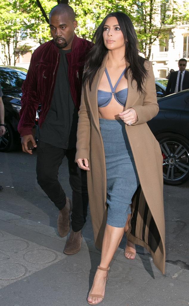 Kim Kardashian, Kanye West, Paris