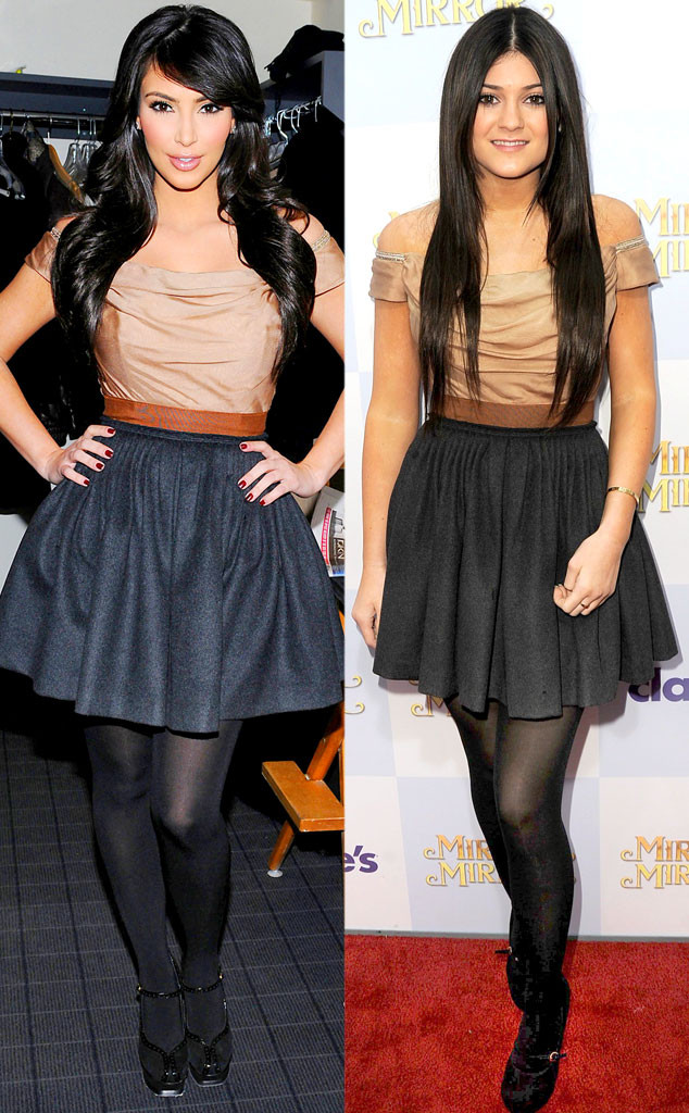 Kim Kardashian, Kylie Jenner, Look Alike Style