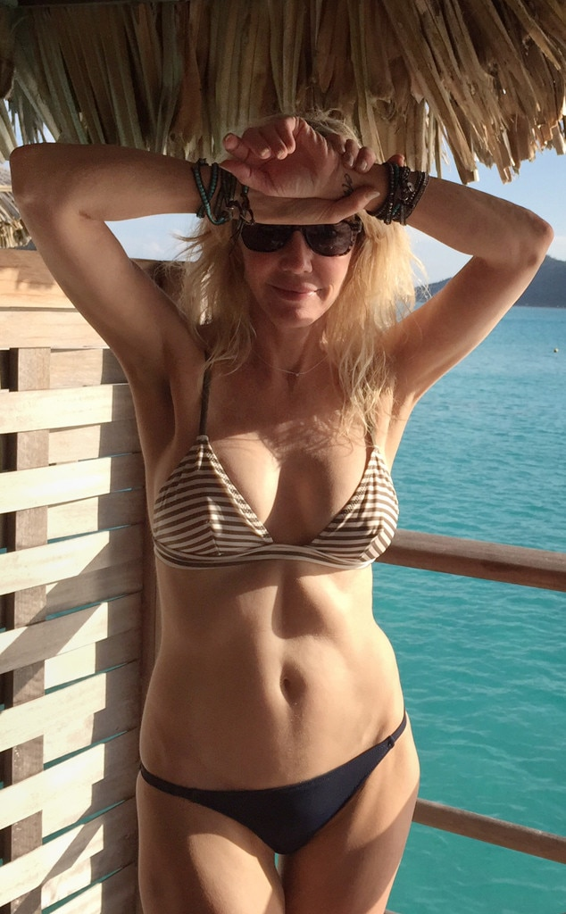 Bikini and hair showing