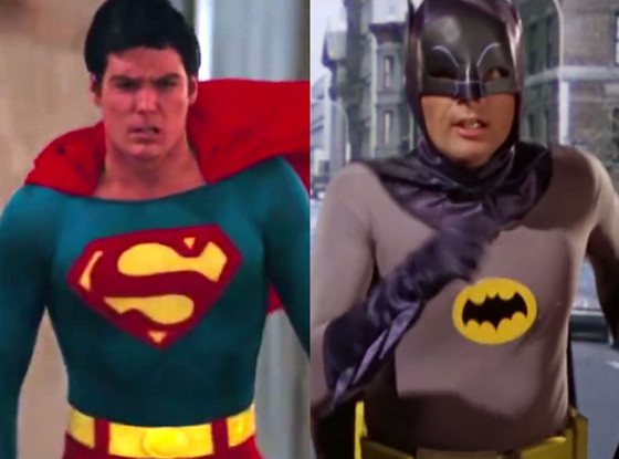 Christopher Reeve, Adam West, Superman and Batman