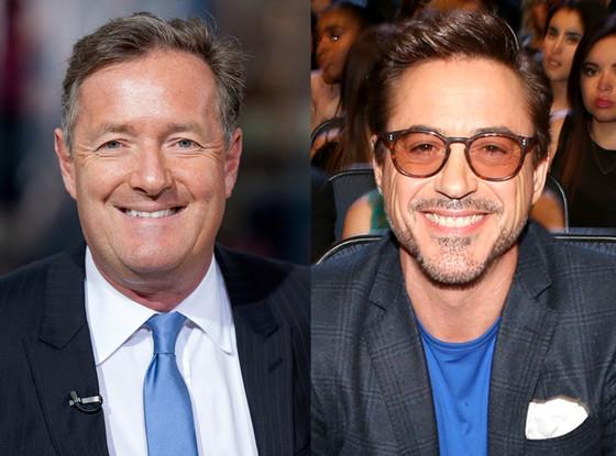 Robert Downey Jr., Piers Morgan