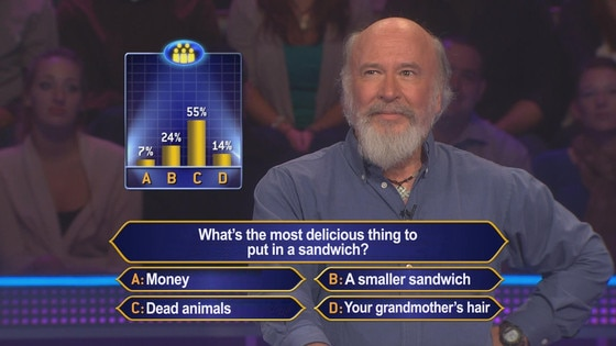 Image result for who wants to be a millionaire odd question