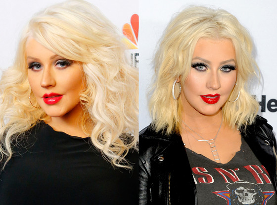 Christina Aguilera, hair