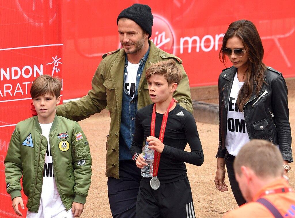 Cruz Beckham, David Beckham, Victoria Beckham, Romeo Beckham