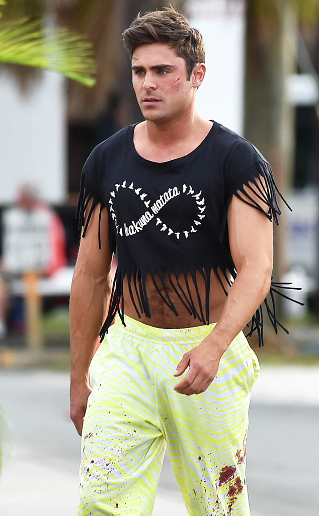 Zac Efrons Fringe Crop Top Game Is Strong E News