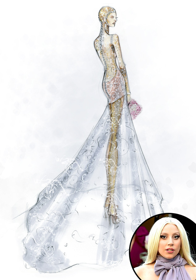 Designers Sketch Their Dream Wedding Dresses for Celeb Brides-to-Be ...