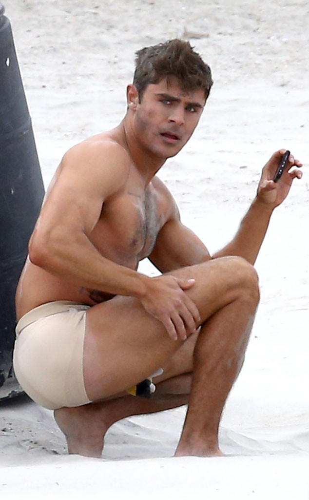 786af6de2b7a03 Shirtless Zac Efron Is Stranded in Tiny Undies on a Beach—See the Pics!