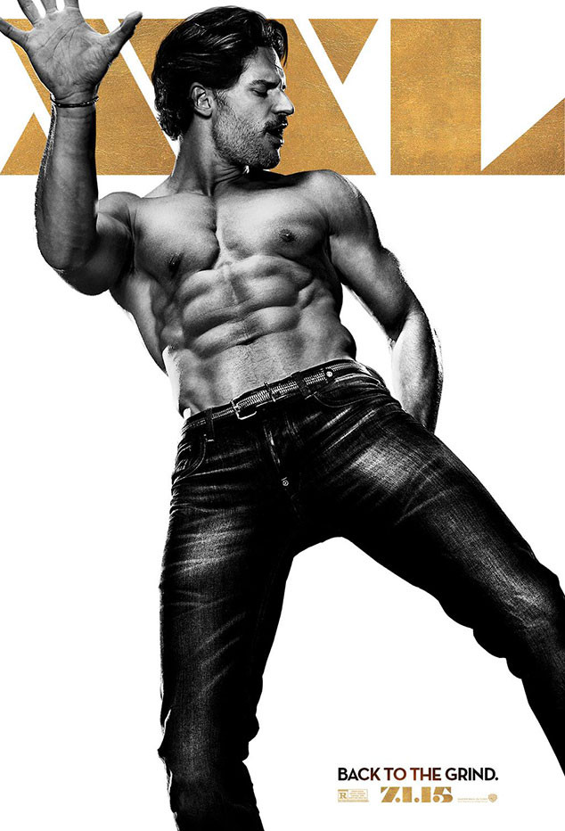 Joe Manganiello, a.k.a. Big Dick Richie, Goes Shirtless and Flaunts His  Washboard Abs for His Magic Mike XXL Poster