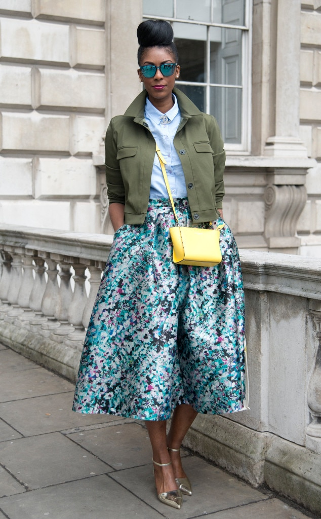 4747e2cafd Poppy Lissiman from Street Style: Midi Skirts | E! News