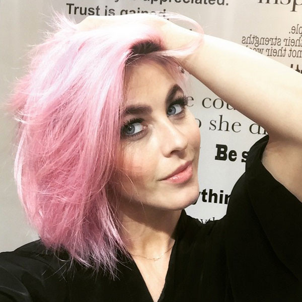 Julianne Hough, Pink Hair, Instagram
