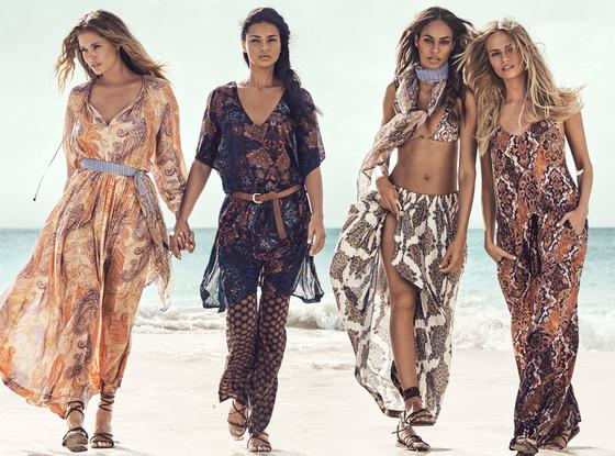 H&M Summer Campaign, Joan Smalls, Natasha Poly, Doutzen Kroes, Adriana Lima