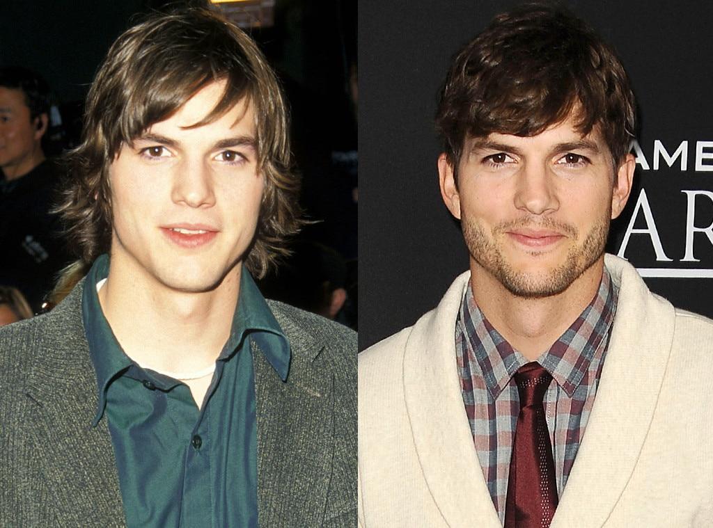 Ashton Kutcher, Then and Now