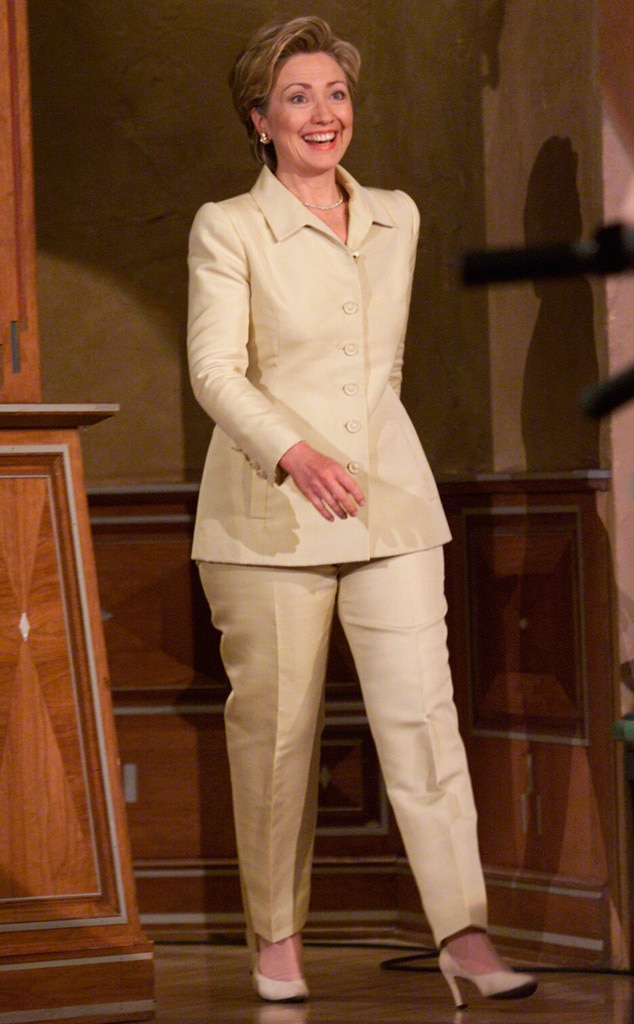 walking on sunshine from hillary clinton s colorful pantsuits e news