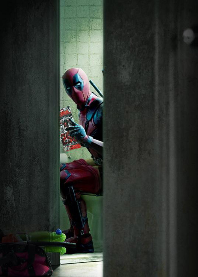 Image result for superhero sitting on a toilet
