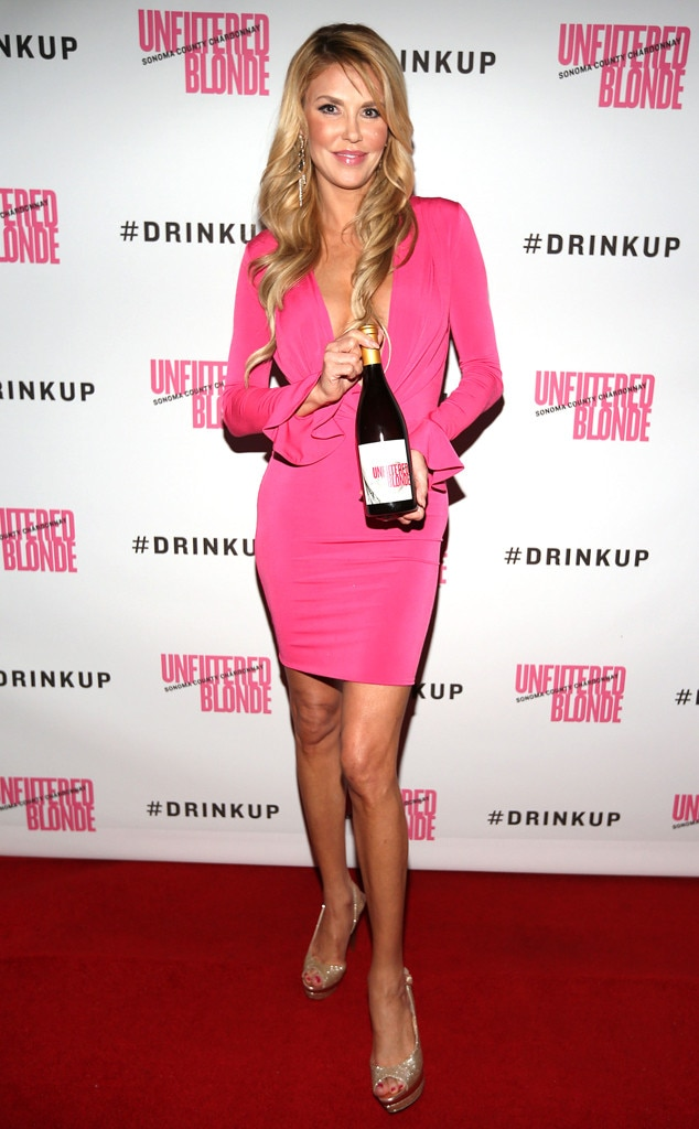 Brandi Glanville -  The  Real Housewives of Beverly Hills  star introduces her Unfiltered Blonde chardonnay (for drinking, not throwing!).