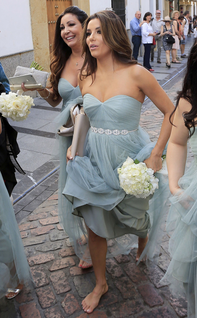 Eva Longoria Was a Beautiful Bridesmaid at Her Friend's Wedding—See the Photos!