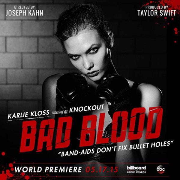 Karlie Kloss, Taylor Swift, Bad Blood, Instagram