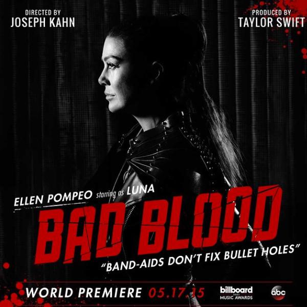 Ellen Pompeo, Taylor Swift Bad Blood poster